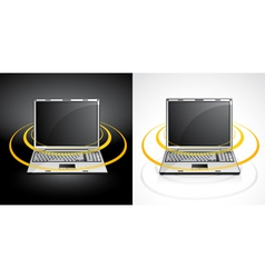 laptops with wireless signal vector image