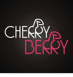 Logo words cherry and berry vector