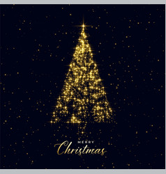 luxury christmas tree made with sparkles vector image