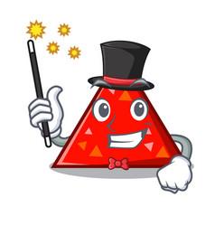 Magician triangel mascot cartoon style vector