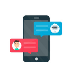 man person chatting on cellphone vector image