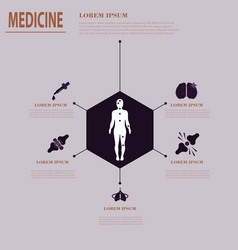 Medical infographic health problems health vector