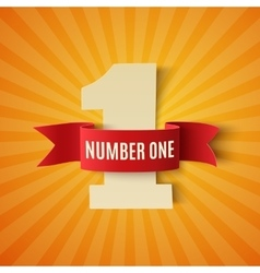 Number one conceptual background vector