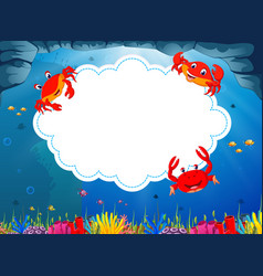 ocean view with the cloud board blank space vector image