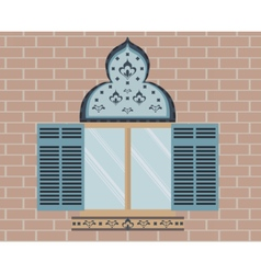 Oriental Ornamented window vector image