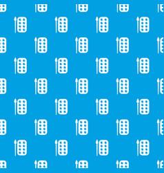paint brush palette pattern seamless blue vector image
