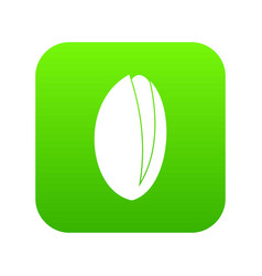 Pistachio nut icon digital green vector