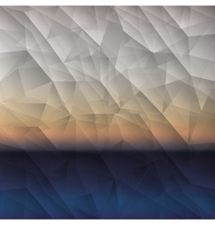 Polygonal background design vector