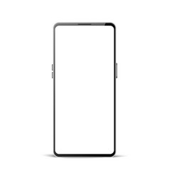 realistic frameless smartphone mock up 3d vector image