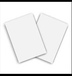 realistic notepad template vector image