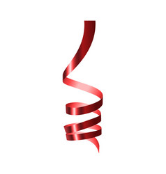 red serpentine mockup realistic style vector image