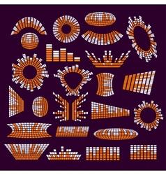 Set of music range equalizer design vector