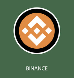 Set of physical golden coin binance coin bnb vector