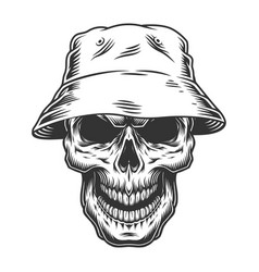 skull in the panama hat vector image