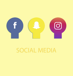 Social media icons facebook icon and instagram vector