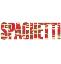 Spaghetti sign vector image