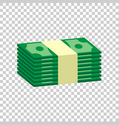 stacks of money cash in flat design on isolated vector image