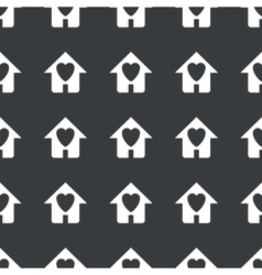 Straight black beloved house pattern vector