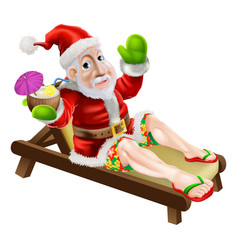 Summer christmas santa vector