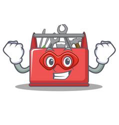 Super hero tool box character cartoon vector