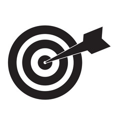 target icon on white background flat style vector image