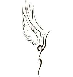 Tattoo Wing vector
