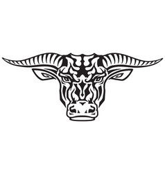 taurus tribal tattoo vector image