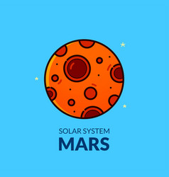 Terrestrial planet mars vector