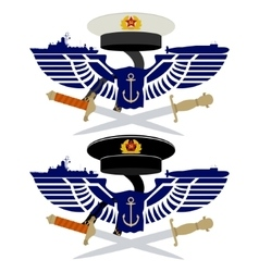 The icons of the Russian Navy vector image