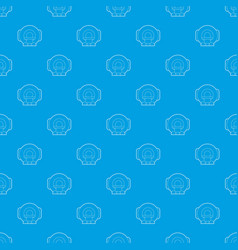 tomograph pattern seamless blue vector image