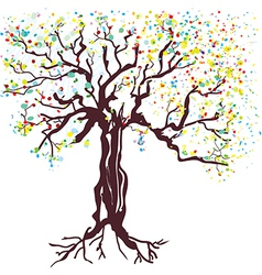 Tree at spring hand drawn vector image vector image