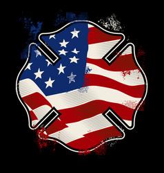 Us fire shield - firefighter vector