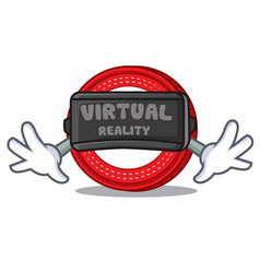 With virtual reality ark coin character cartoon vector