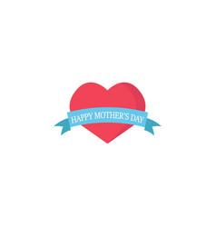 beautiful heart with ribbon vector image vector image