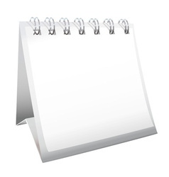 blank calendar with spiral bound vector image