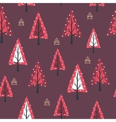 Christmas seamless background New Year collection vector image vector image
