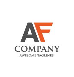 creative letter af logo vector image vector image