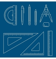 drawing equipment vector image
