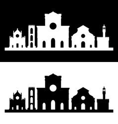 florence skyline vector image