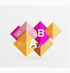 geometric abstract background with option vector image vector image