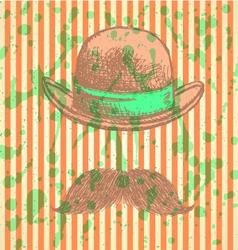 Hat Mustache vector image vector image