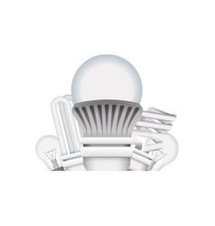 light bulbs types vector image