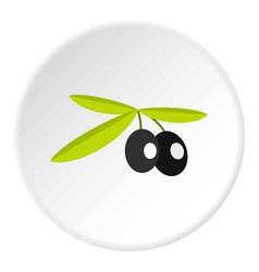 olives icon circle vector image