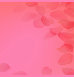pink poster with petals vector image vector image