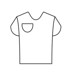t shirt with front pocket icon image vector image