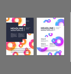 brochure template for business modern journal vector image vector image
