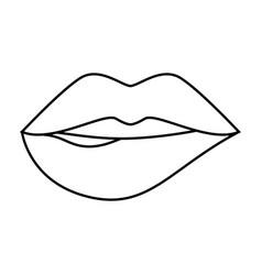 sensual lips icon vector image vector image
