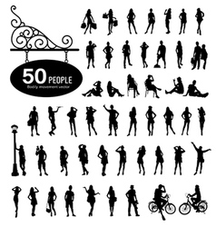 Silhouette people bodily movement vector image