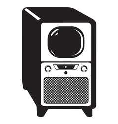 vintage television set vector image vector image