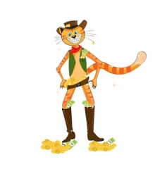 western cat vector image